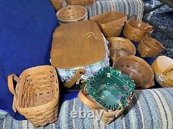 Longaberger Basket Lot ranging from 1993 1999. 12 in total