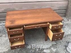 (Lot of 6) Antique Bankers Desks OAK Wood from Hitchcock Costume Designer OBO LA