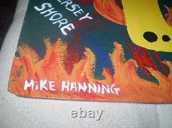 MIKE MICHAEL HANNING FOLK ART PAINTING TV FROM HELL 14 x 20