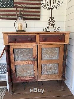 Mid 1800s Pie Safe from the historic Wabash Hotel 49h x 45w x 22d