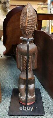 Mid 20th Century Baule Female Fertility Wooden Statue from the Ivory Coast