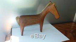 Mid Century Karl Hagenauer Original Carved Wood Horse Sculpture from 1955-60