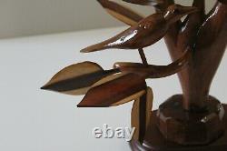 Mid Century Modern 50s Folk art handmade tree sculpture from prominent home