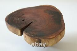 Mid Century Modern Nakashima styled small table stand from prominent estate