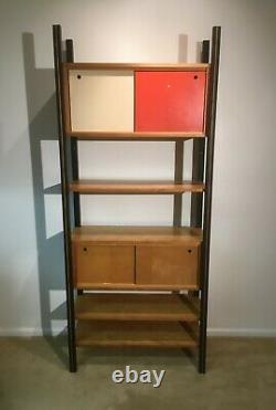 Mid Century Modern Scandinavian shelf Room Divider with. Compartments from 60's