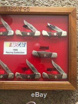 NASCAR 1995 10 Knife Collection Bear MGC ALL 10 MAJOR RACES FROM 1995 DISPLAY