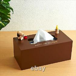 NEW SANRIO SNOOPY Wood Tissue Box Case Free Shipping from JAPAN
