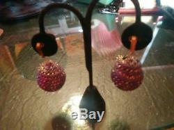 Natalie Wood Personally Owned Clip-on ball type fabric earrings from Warner