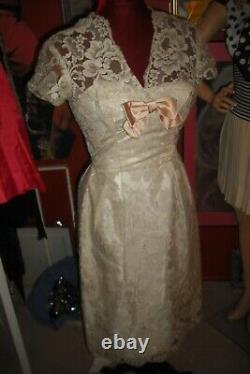 Natalie Wood Personally Owned & Worn 1960's White Lace Wiggle Dress from Warner