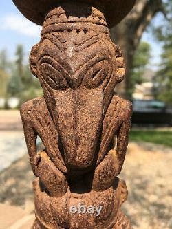 New Guinea Ancestor Spirit Figurine Carved Wood from Lower Sepik River