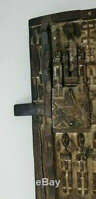 Nice Old African Dogon Door From Mali Exquisite Carvings Custom Hanging Tackle