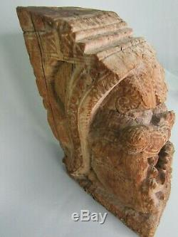 ORIGINAL Antique Architectural Carved Wood Temple Truss from India salvaged Raj