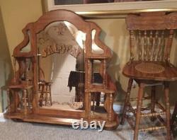 Oak Pulaski Bar from the Keepsake Collection 60wide 22 Depth 38 High