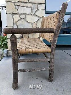 Old Hickory Chair Company Settee from Martinsville Indiana