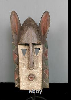 Old, Tribally used African Dogon Rabbit Mask from the Dogon Tribe of Mali