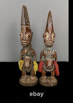 Old, Tribally used Yoruba Ibeji (Twins) Figure From The Tribe of Nigeria