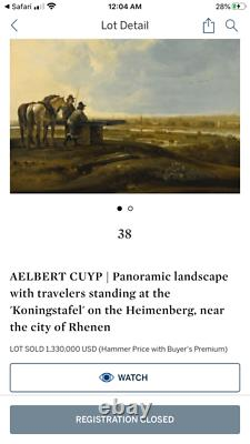 Old master cow painting signed Cuyp. 1600s. From a Castle! Aelbert Cuyp