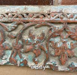 Original Antique Carved Wood Panel Originally from India Decorative Hanging