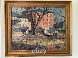 Original Art JOHN WELLS JAMES Painting Pennsylvania Row Houses From Back