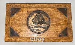 Original Relic Wood Chest Box From 1794 USS Constitution From Hall Rare