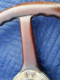 Original wood steering wheel removed from 1926 Locomobile