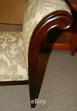Parlor Settee Chaise Lounge from Estate Upholstered Wood Adjustable Feet