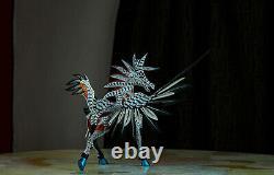 Pegasus (pegaso) Alebrije wood craved sculpture handmade from Oaxaca Mexico