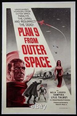Plan 9 From Outer Space Ed Wood Science Fiction 1959 1-sheet