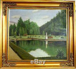Poul Holm! Italian Park Landscape From Near Lago DI Como In Italy. No Reserve