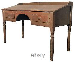 Primitive Wooden Antique Standing Desk from Foundry Industrial Great Patina