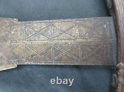 Rare 19th C. Genuine african axe, hatchet from the LUNDA, CHOKWE, Angola, DR Congo
