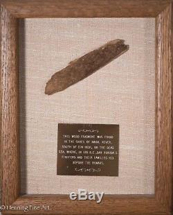Rare Ancient Wood Fragment from Cave of Nahal Hever, Bar Kokbba's Troops, Roman