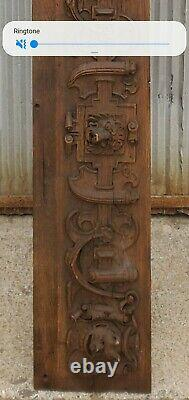 Rare Antique Gothic French Carved Wood Gargoyle Architectural Salvage From Ny