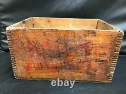Rare Antique MOXIE Wood Box Crate for 12-26oz. Bottles from 1912 Dovetailed