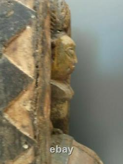 Rare YORUBA NAGO GELEDE crest mask 50 cm from Nigeria African Art