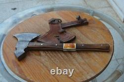 Rare damascus handforged hunting axe New From The Eagle Collection Z2679