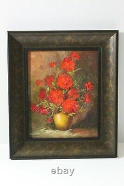 Robert Cox beautiful vintage flower still life painting from prominent estate