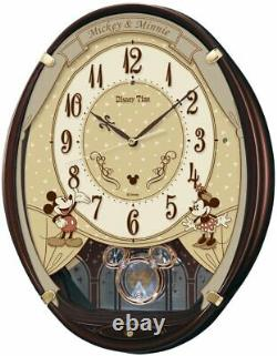 SEIKO Wall Clock Mickey Mouse Brown color Disney Time FW579B from Japan Limited