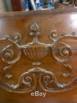 Salvaged From Mansion Elaborate Detailed Classical Wood Panel