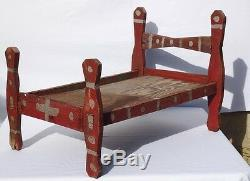 Second of two great and unusual African-American doll's beds from the 1940's