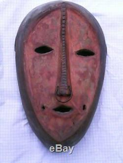 Senufo Mask, Vintage Authentic Hand Carved Mask From African Ivory Coast
