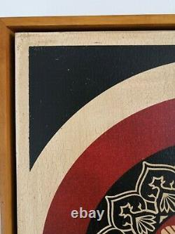 Shepard Fairey (Obey) Peace Dove Red Screeprint wood Only 2 ex Rise from