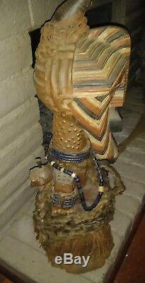 Songye, Nkisi, Fetish statue, African power figure, EXTRA LARGE from Congo