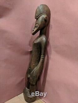 Standing Male Statue from Ivory Coast Authentic Hand Carved African Art