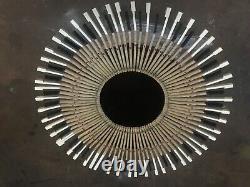 Starburst Piano Key Mirror Handmade from recycled piano parts Free Shipping