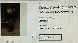 Superb 1920s Boston Arts & Crafts Picture Frame From A Theodore Wendel Painting