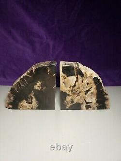THE MAGICIANS TV SERIES PROP Petrified Wood Bookends From Lot # 1421