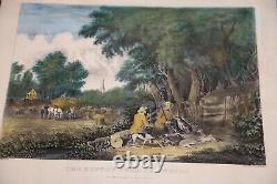 THE RETURN FROM THE WOODs Original Currier & Ives Medium Folio Lithograph C5131