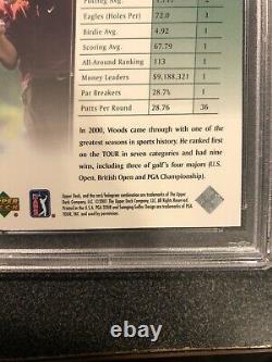 TIGER WOODS 2001 UD GOLF #1 RC ROOKIE CARD PSA 10 GEM MINT Fresh From PSA