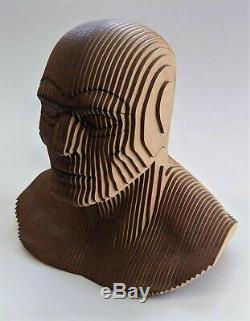 The Phantom Lee Falk Vintage Sth AMERICAN UNIQUE WOOD BUST from Art Gallery